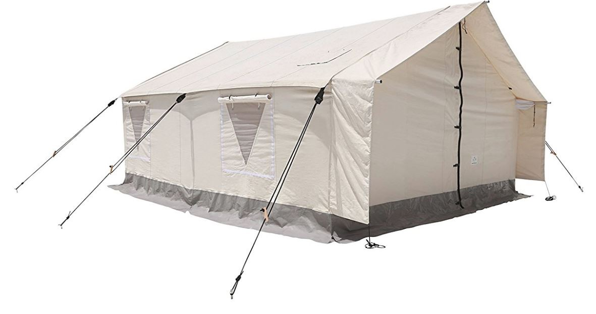 Canvas Wall Tent with Aluminum Frame and PVC Floor for Elk Hunting